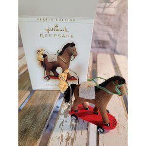 Hallmark A pony for Christmas 2006 ornament xmas b